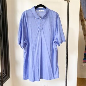 SOUTHERN TIDE Men's ss tipped blue collar polo